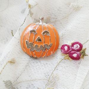 VTG Enamel Pin Jack-o-Lantern Halloween Pumpkin